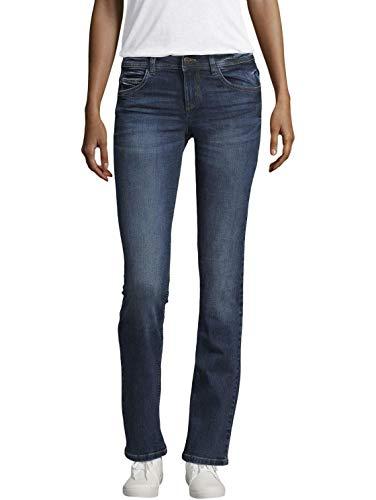 TOM TAILOR für Frauen Jeanshosen Alexa Straight Jeans mid Stone wash Denim, 30/30